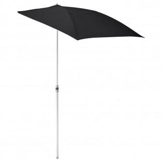 IKEA FLISO Umbrela soare, negru, 160x100 cm