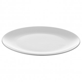 IKEA FLITIGHET Farfurie, alb, 26 cm