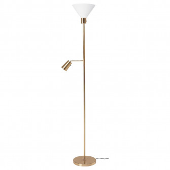 FLUGBO Lampadar/lampa citit - alama, sticla - IKEA