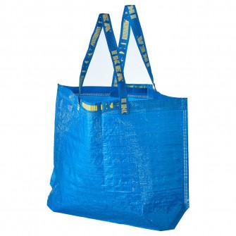 IKEA FRAKTA Sacosa medie, albastru, 36 l
