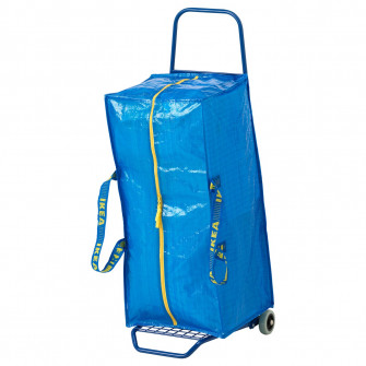 IKEA FRAKTA Carucior cu sacosa, albastru