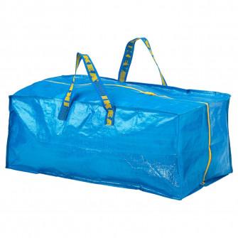 IKEA FRAKTA Sacosa pentru carucior, albastru, 76 l