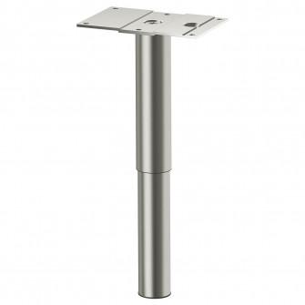 IKEA GODMORGON Picior, rotund, inox, 14/25 cm