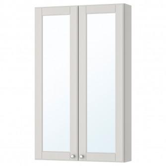 IKEA GODMORGON Dulap oglinda cu 2 usi, Kasjon gri, 60x1