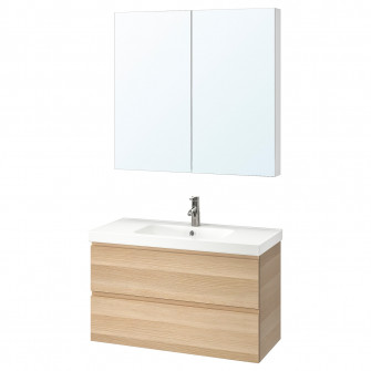 IKEA GODMORGON / ODENSVIK Set mobilier de baie, 4 piese