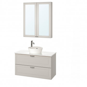 IKEA GODMORGON/TOLKEN / KATTEVIK Set mobilier baie, 5 p