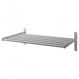 IKEA GRUNDTAL Uscator rufe perete, inox, 67-120 cm