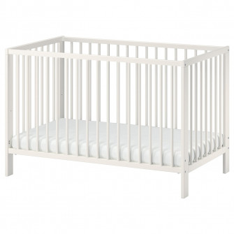IKEA GULLIVER Patut, alb, 60x120 cm