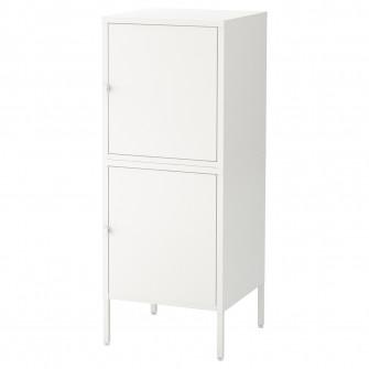 IKEA HALLAN Ansamblu depozitare cu usi, alb, 45x47x117