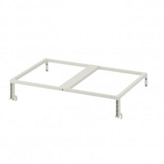 IKEA HALLBAR Cadru sustinere cos sortare deseuri, alb,