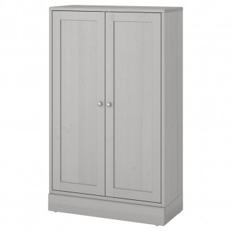 IKEA HAVSTA Corp cu plinta, gri, 81x37x134 cm