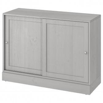 IKEA HAVSTA Corp cu plinta, gri, 121x47x89 cm