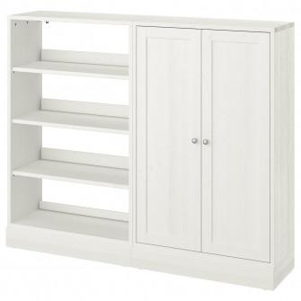 IKEA HAVSTA Ansamblu depozitare, alb, 162x37x134 cm