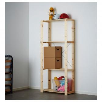 IKEA HEJNE 1 sectiune, lemn conifere, 78x31x171 cm