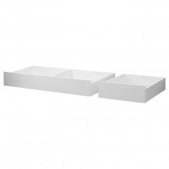 IKEA HEMNES Set 2 lazi depozitare, vpst alb, 200 cm