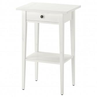 IKEA HEMNES Noptiera, vpst alb, 46x35 cm