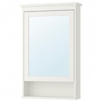 IKEA HEMNES Dulap oglinda cu 1 usa, alb, 63x16x98 cm