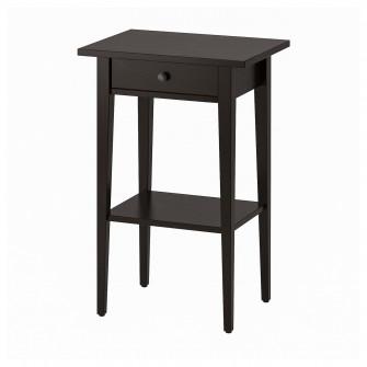 IKEA HEMNES Noptiera, negru-maro, 46x35 cm