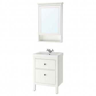 IKEA HEMNES / ODENSVIK Set mobilier de baie, 4 piese, a