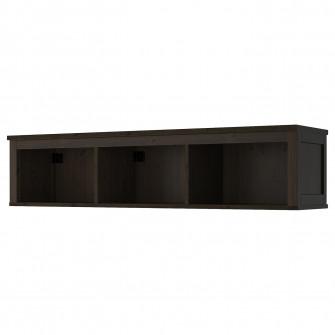 IKEA HEMNES Polita suspendata, negru-maro, 148x37 cm