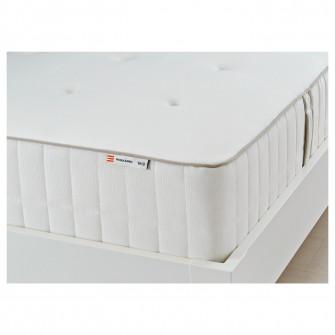 IKEA HOKKASEN Saltea cu arcuri impachetate, ferma, alb,