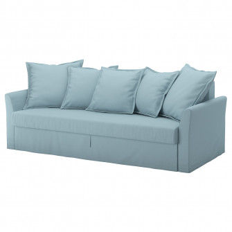 IKEA HOLMSUND Canapea extensibila 3locuri, Orrsta bleu