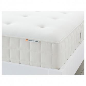 IKEA HYLLESTAD Saltea cu arcuri impachetate, ferma, alb