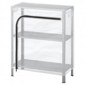 IKEA HYLLIS Etajera cu husa, transparent, 60x27x74 cm