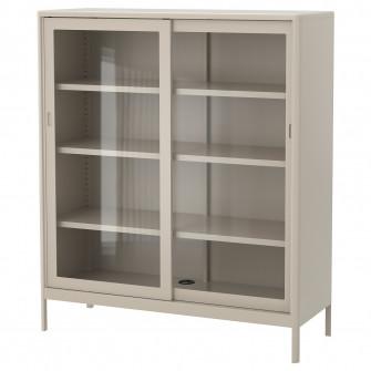 IKEA IDASEN Corp usi de sticla glisante, bej, 120x140 c