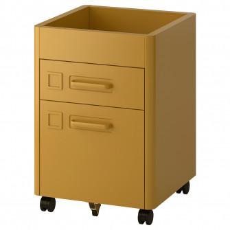 IKEA IDASEN Comoda cu rotile, maro-auriu