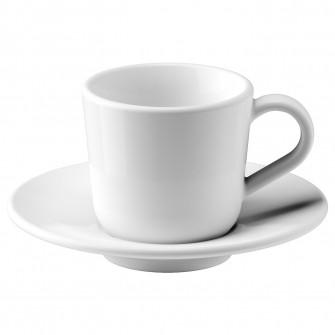 IKEA IKEA 365+ Ceasca cu farfurie espresso, alb, 6 cl
