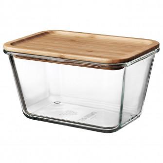 IKEA IKEA 365+ Caserola cu capac, rectangular sticla, s