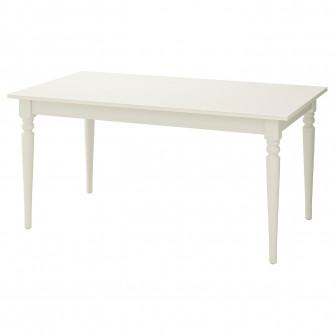 IKEA INGATORP Masa extensibila, alb, 155/215x87 cm