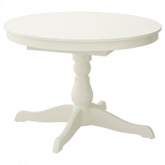 IKEA INGATORP Masa extensibila, alb, 110/155 cm
