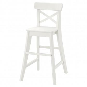 IKEA INGOLF Scaun junior, alb