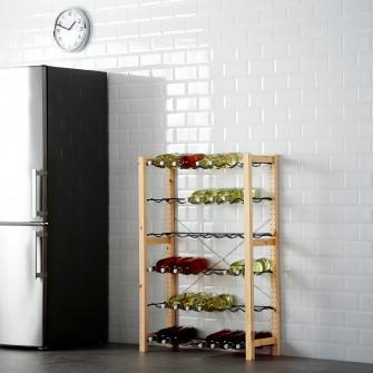 IKEA IVAR 1 secTiune/suport sticle, pin, gri, 89x30x124