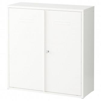 IKEA IVAR Corp cu usi, alb, 80x83 cm