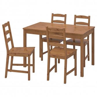 IKEA JOKKMOKK Masa + 4 scaune, aspect antichizat