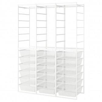 IKEA JONAXEL Cadru/cosuri metalice/bara umerase, 148x51