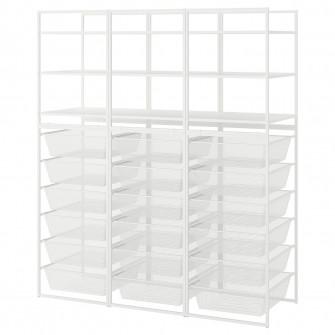IKEA JONAXEL Cadru/cosuri metalice/etajere, 148x51x173