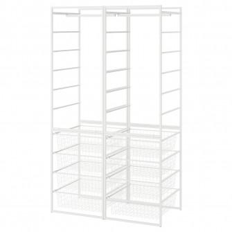 IKEA JONAXEL Cadru/cosuri metalice/bara umerase, 99x51x