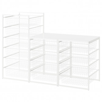 IKEA JONAXEL Cadru/cosuri metalice/polite sup, 148x51x1