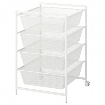 IKEA JONAXEL Cadru + cosuri metalice/rotile, 50x51x73 c