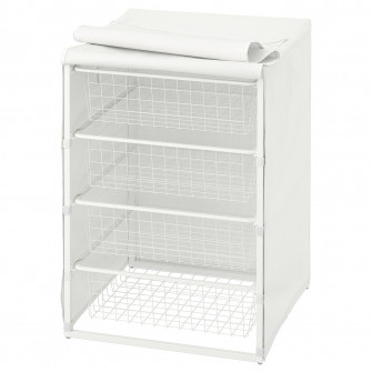 IKEA JONAXEL Cadru + cosuri metalice/polita, 50x51x70 c