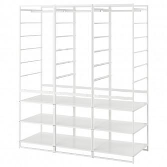 IKEA JONAXEL Cadru/bara umerase/polite, 148x51x173 cm