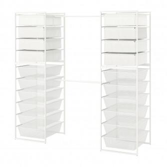 IKEA JONAXEL Cadru/cosuri met/cosuri text/bara, 142-178