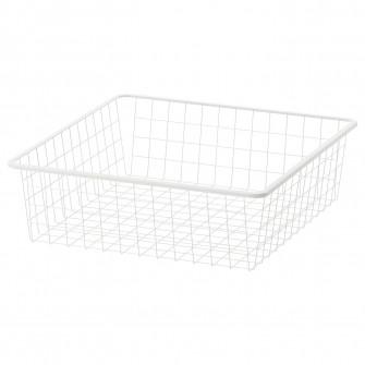 IKEA JONAXEL Cos metalic, alb, 50x51x15 cm
