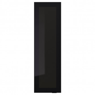 IKEA JUTIS Usa sticla, sticla fumurie, negru, 30x100 cm