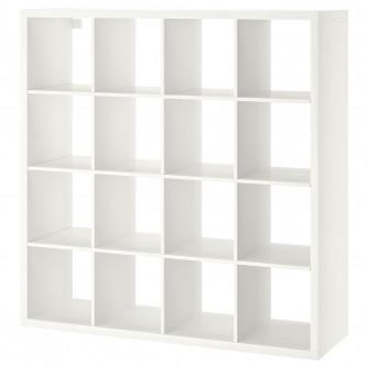 IKEA KALLAX Etajera, alb, 147x147 cm