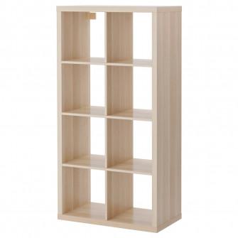 IKEA KALLAX Etajera, aspect stejar antichizat, 77x147 c